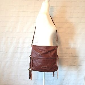 Lucky Brand soft distressed leather crossbody bag